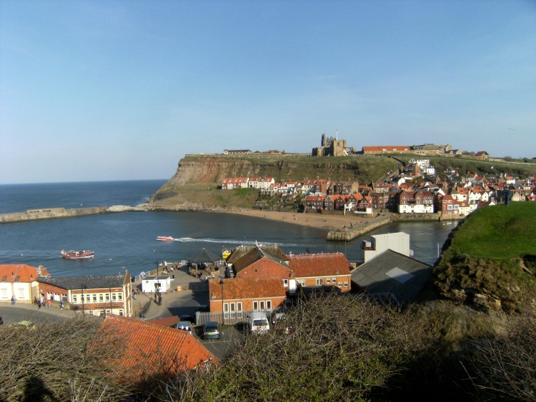 Whitby's East Cliff and harbour