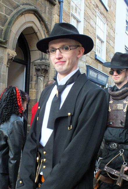 Men enjoy dressing up as much as women. Taken by Chris-Jones, Bow-House