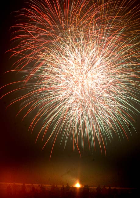 A fiesta of fantastic fireworks on the Monday night to close a fantastic weekend