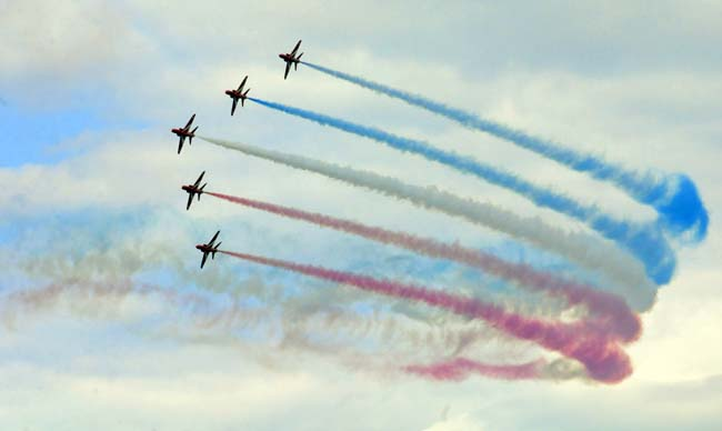 The RAF's aerial display team, the Red Arrows – © Ceri Oakes/Whitby Gazette
