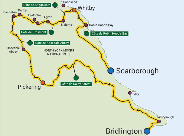 Tour de Yorkshire 2015 day 1 map