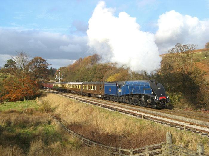 North Yorkshire Moors Railway country train ride