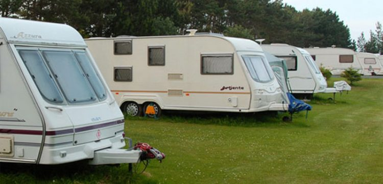 Caravan pitches at a camping and caravan park around Whitby