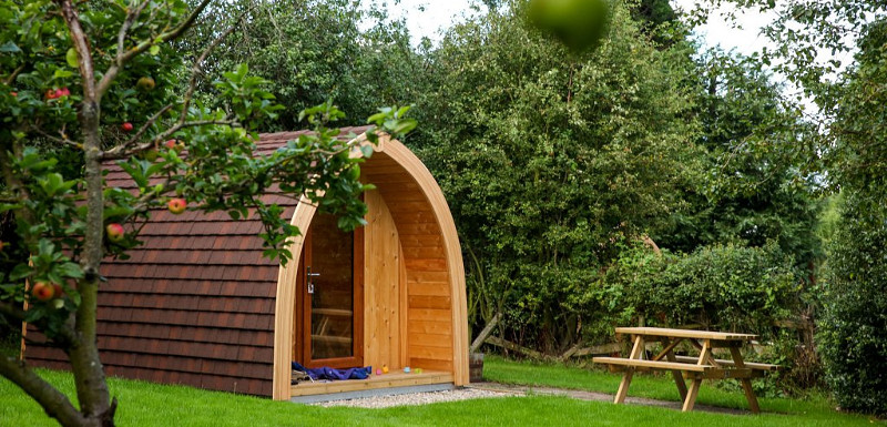 Glamping pod at a camping and caravan park around whitby