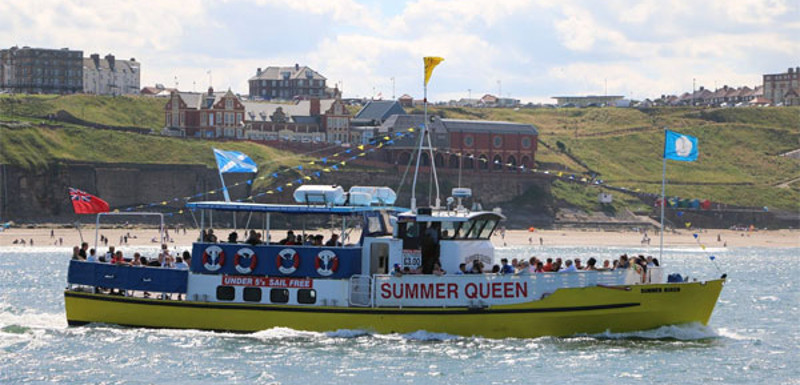 Summer Queen boat on delivering a Whitby town tour
