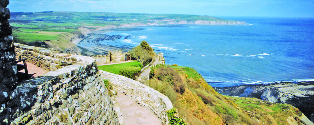 image of Robin Hood's Bay from Ravenscar cliff