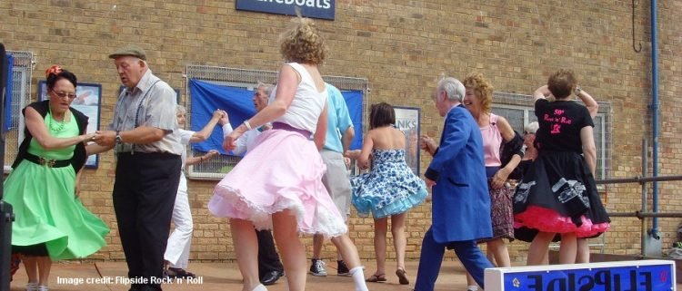 dancers on stage at Flipside rock n roll 50s festival