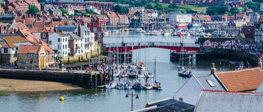 view of the harbour before the Whitby Regatta