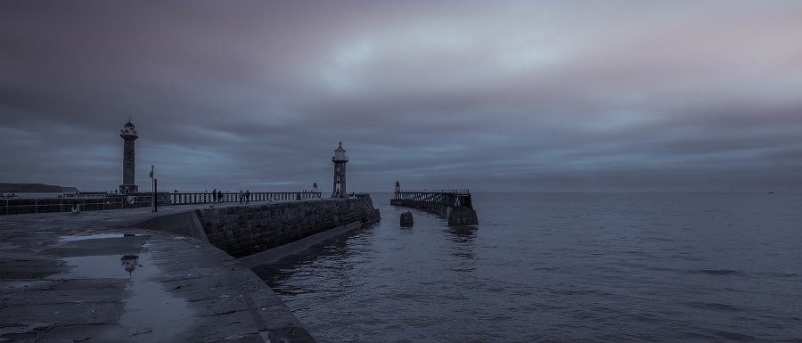 west pier where you can see whitby ghosts