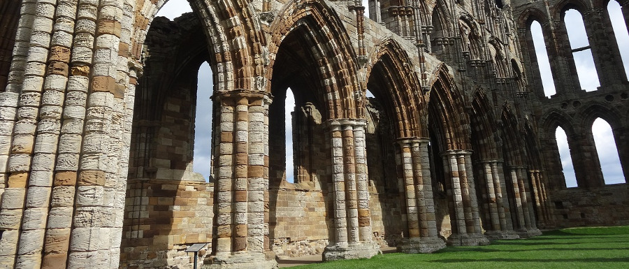 Whitby abbey arches