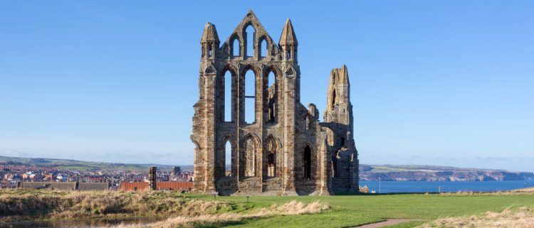 whitby abbey on a summer day