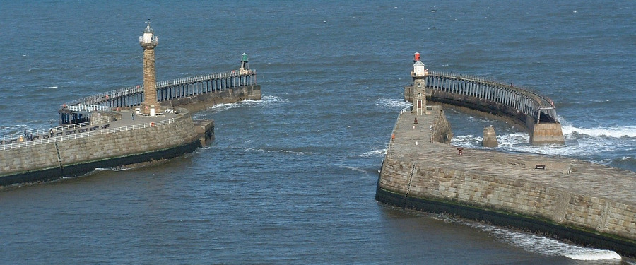 breakwaters at Whitby