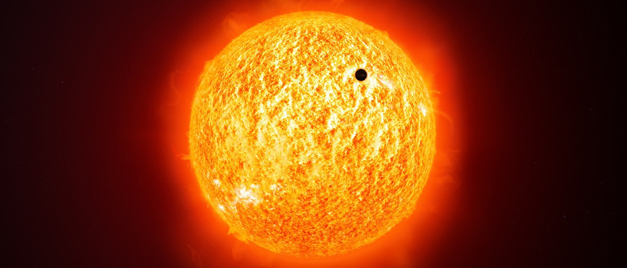 the transit of Venus across the sun