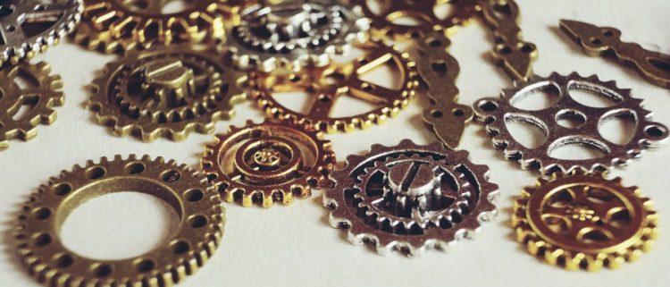 cogs on sale at the Whitby Steampunk Weekend