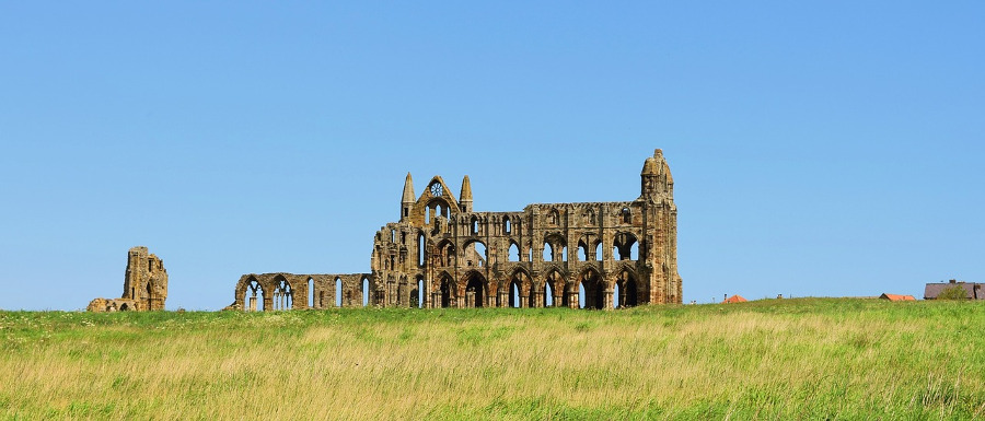 Whitby Abbey founded by St Hilda of Whitby