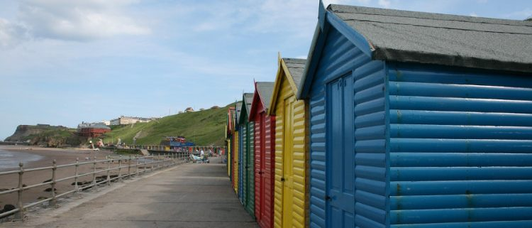 beach houses on the Whitby coastline