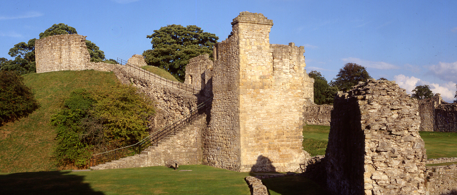Pickering castle is a great place to visit near Whitby