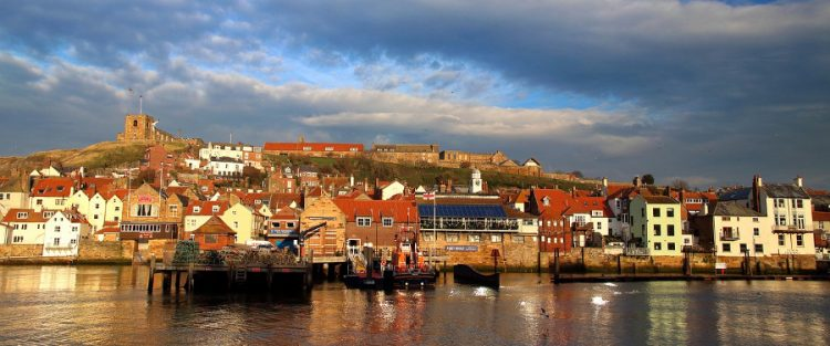 Whitby harbour inspires many seaside songs