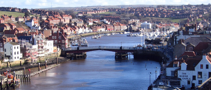 Whitby harbour and swing bridge