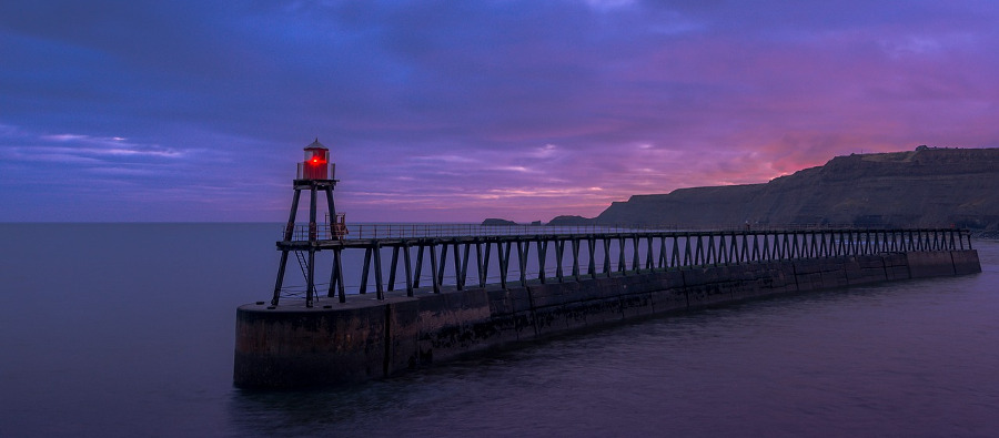pictures in Whitby of the pier