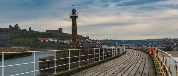 pier walk on a weekend in Whitby