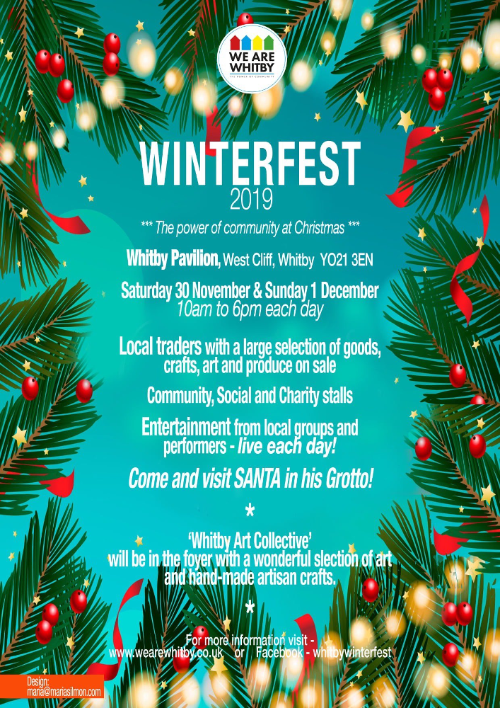 We Are Whitby Winterfest poster 2019
