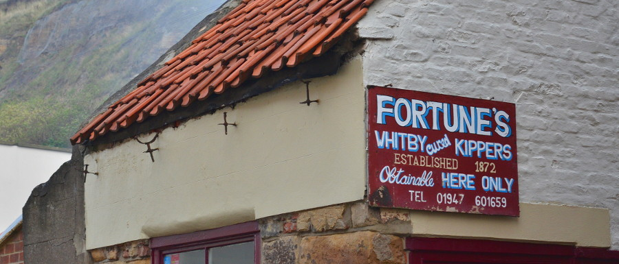 Fortune's Kippers building and sign