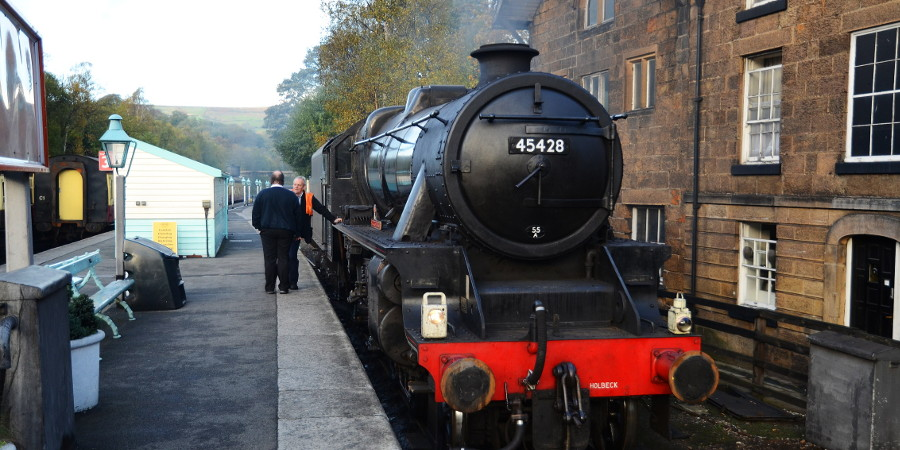 Steam train at Grosmont Station