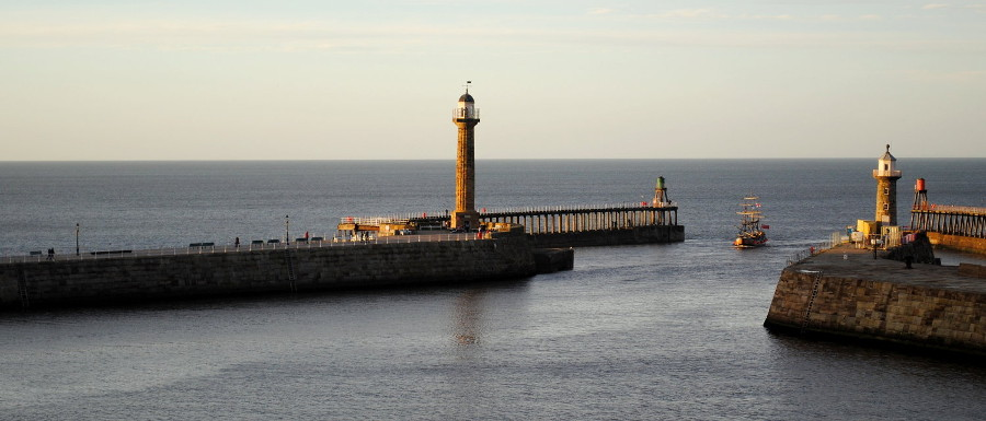 Whitby Pier and harbour