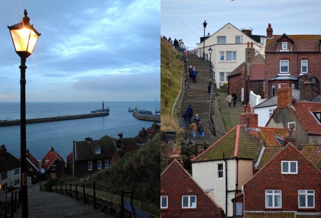 views of the 199 Whitby Abbey steps