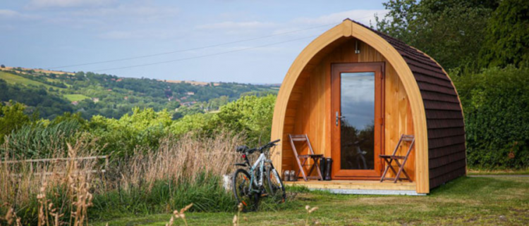pod for glamping in Whitby