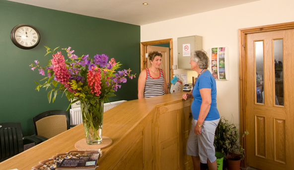 Reception at Grous Hill Caravan Park