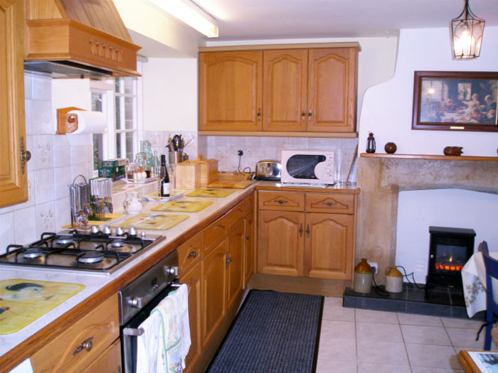 Kitchen facilities in one of the properties at Farsyde Farm Cottages