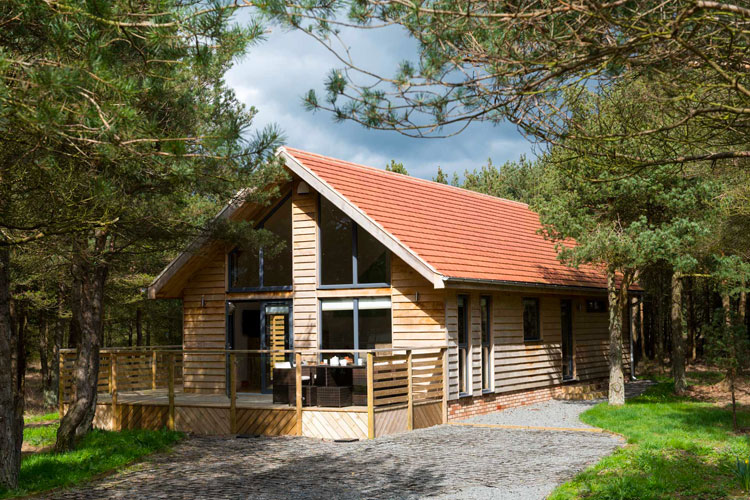 The lodges at Ladycross Plantation are situated in the peace and tranquility of the woodland