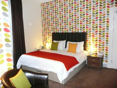 The Leeway brightly coloured bedroom