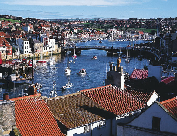A delightful view of Whitby harbour