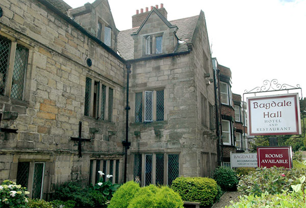 The lovely exterior of Bagdale Hall Hotel, Whitby