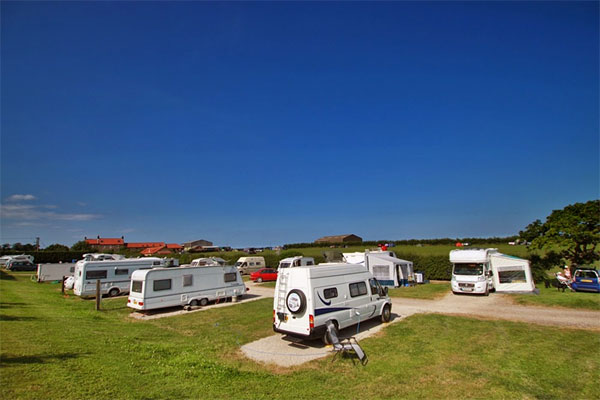 The delightful camping field with hardstanding at Broadings Farm Caravan and Camping Park, Whitby