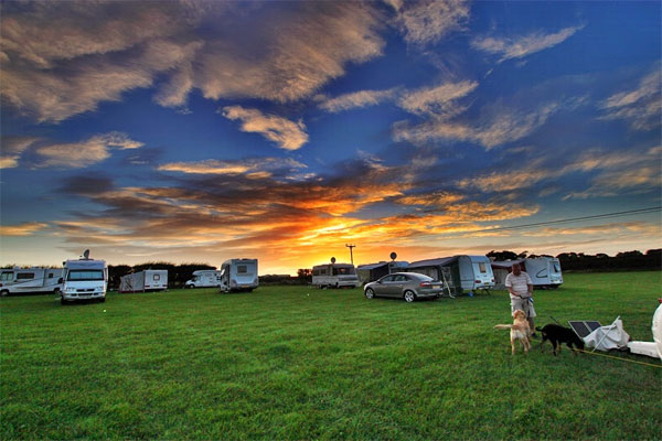 The stunning field for caravan at Broadings Farm Caravan and Camping Park, Whitby