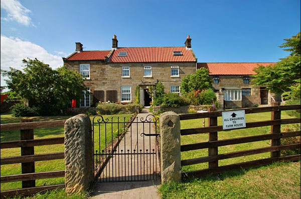 The beautiful farmhouse at Broadings Farm Caravan and Camping Park, Whitby
