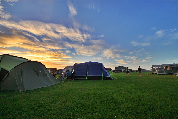 The charming tent camping field Broadings Farm Caravan and Camping Park, Whitby