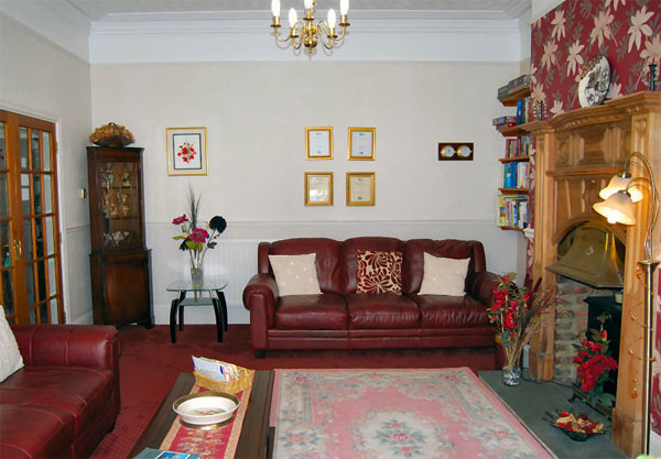 The relaxing guest lounge at Bramblewick Guesthouse, Whitby