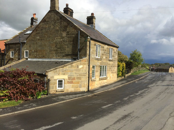 The beautiful exterior of the cottage taken from across the green, The Green, Glaisdale