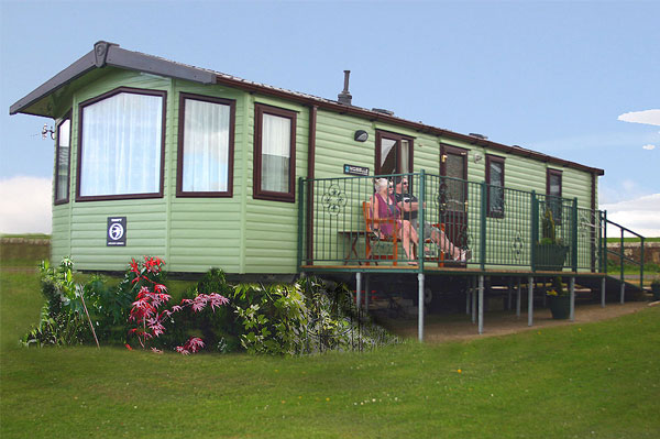 The stunning exterior of a static holiday home at The Flask Inn Holiday Park