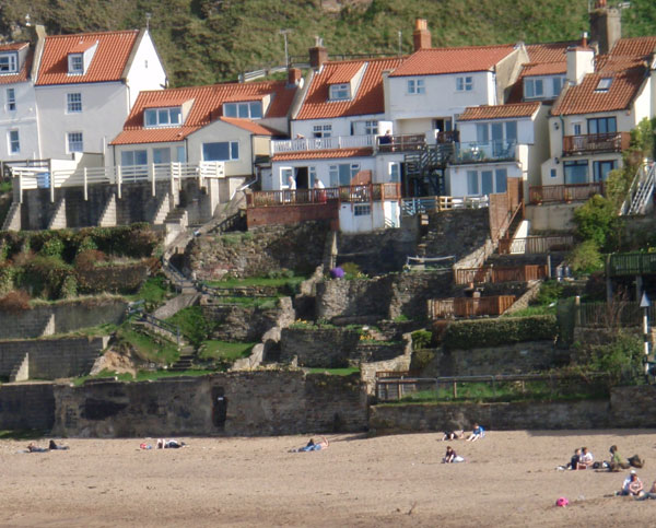 The quaint cottages at East Cliff Cottages, Whitby