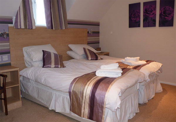 A stunning bedroom at the Flask Inn, Whitby