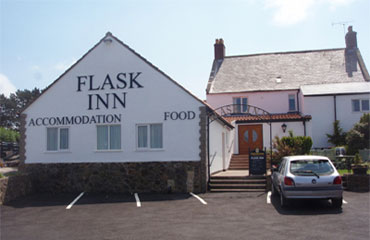 The exterior of the Flask Inn, Whitby