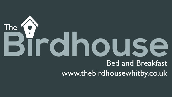 The logo for The Birdhouse Bed & Breakfast, Whitby