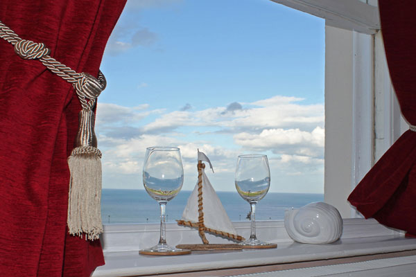 A delightful sea view from Dawn's Gem Apartment, Whitby