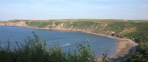 The picturesque Runswick Bay near Serenity Camp Site